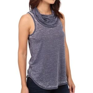 Chaser Vintage Jersey Open Back Cowl Tank